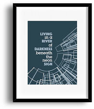 Song Lyrics Art Music Quote Print Poster - You Belong to the City by Glenn Frey