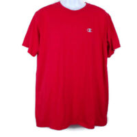 Champion Men's Red Tee Shirt Short Sleeves XL