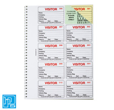Identibadge Visitors Book Refill (Pack of 300)