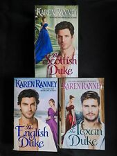 Lot Of 3 Karen Ranney Books - Duke Trilogy 1-3 The English Scottish Texan Duke