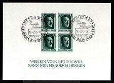 7213-GERMAN EMPIRE-1937.WWII.BLOCK Used Michel Nº 8.Adolf HITLER.DEUTSCHES REICH