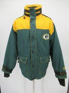 P4425 VTG Champions NFL Green Bay Packers Windbreaker Jacket Size XL