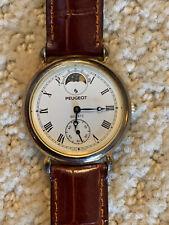 Women's Vintage PEUGEOT Quasi-MoonPhase Quartz Watch w/second hand complication
