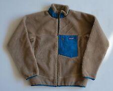 PATAGONIA MEN'S CLASSIC RETRO-X fleece Jacket $229 NWT size Small Ash Tan