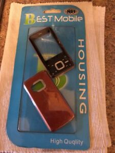 Housing / Fascia/ Cover For Nokia N81 Black & Red