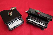 Kurt s Adler Grand and Upright Piano Christmas Ornament Resin Set of 2 Black