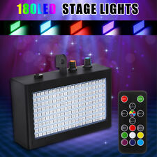 180 LED Strobe Flash Light Stage Lights Disco DJ Sound Activated Lighting Lamp