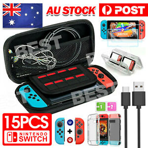 For Nintendo Switch Travel Case EVA Hard Bag+Screen Protectors+Cover+Accessories