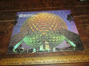 Disney World Epcot Center Dome At Twilight Picture Puzzle 1982 SPACESHIP EARTH