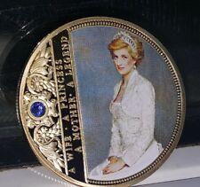 Princess Diana Gold Coin Autographed Queen Elizabeth Paris Beautiful Medal Retro