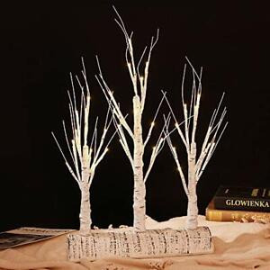 Detachable Birch Tree Branches with LED Lighted 3 in 1 Base Birch Branches