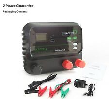 Electric Fence Energizer Charger, LCD, 30KM for Cattle Sheep Goat Horse Elepant