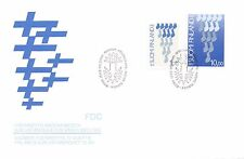 Finland 1987 FDC - 70th Anniversary of Independent Finland - Finnish Flag