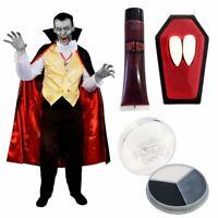 MENS VAMPIRE COSTUME HALLOWEEN FANCY DRESS COSTUME ADULT GOTHIC COUNT DRACULA