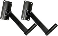 NEW Pyle PSTND6 Pair of Heavy Duty Wall Mount Speaker Brackets (Up to 77 lbs)
