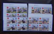 Lesotho 1976 Red Cross set in block x 4 MNH