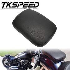 Black Motorcycle Rear Fender Passenger Pillion Pad Seat 6 Suction For Harley