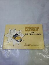 Vintage Genuine Sno-Pony 340 Snowmobile Factory Owners Manual Book snow Sled Oem