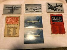 Wwii 36 Giant Planes&Enemy Planes Photo Packs+(2) Boeing 737 Twinjet Postcards