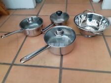 3 xpan set and stainless steel strainer