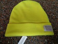 Banana Republic Men's Beanie Hat Merino-Blend Ribbed-Knit Neon Yellow NWt
