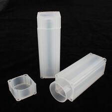 PP pièce de monnaie capsules sûr carré rangement tube pour paper-rolled pièces