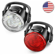 Bike Bicycle Light USB 12Led Rechargeable Headlight Taillight running light Lamp