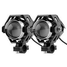 2x 125W CREE U5 LED Driving Fog Spot Light Lamp Fit Honda Motorcycle Waterproof