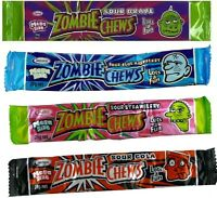 Zombie Chews x 60 Assorted Flavour 28g Halloween Candy Buffet Favor Bulk Lollies
