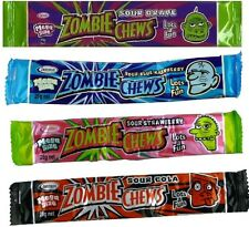 Zombie Chews x 12 Assorted Flavour Mega Size 28g Halloween Candy Buffet Favors