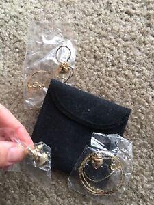 Gorgeous Children Kids Necklace Bracelet Bangle Earrings Heart Charm Design Set!