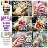 Nagelkunst Patch Stiletto Fake Nails Falsche Nägel Fingernägel Erweiterungen