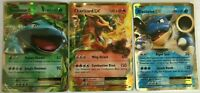 ULTRA RARE Venusaur + Charizard + Blastoise EX Pokemon Evolution Holo Set 12/108