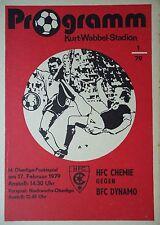 Programm 1978/79 HFC Chemie - BFC Dynamo