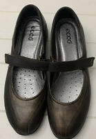 NEW ECCO Chocolate Brown Mary Jane Fashion Shoes Sneakers SZ 41 = SZ 10