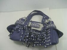 CountryRoad Cowgirl Western Fringe Style Purple & Dazzle Bling Purse Belt Design
