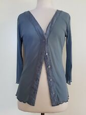 JIGSAW Duck Egg Blue Mesh Cardigan Size 4/XS/8