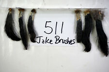 6 JAKE BRUSHES, EASTERN WILD TURKEY BEARDS-TAXIDERMY lot511
