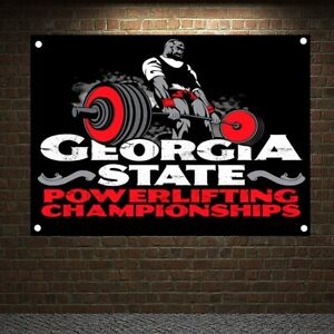 GEORGIA STATE POWERLIFTING CHAMPION SHIPS Workout Posters Banners Flag Gym Decor