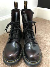 Doc Martens Burgundy Boots Size US 8 UK 6