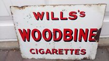 vintage enamel sign for Wills's Woodbine cigarettes