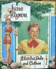 June Allyson Paper Doll Book  B Shackman