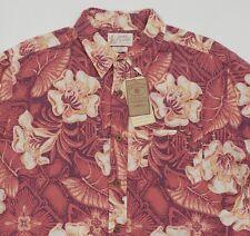 Men's LUCKY BRAND Dale Hope Hawaiian Aloha Tropical Floral Shirt Medium M NWT