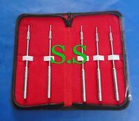Set Of 5 Pcs Straight Sinus Osteotomes Dental Implant Set Instruments With Kit