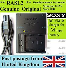 Original Sony BC-VM10 Charger NP-FM500H Alpha A200 A350 A500 A550 A700 A850 A900