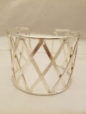 Sterling Silver Plated Cuff Bracelet With X Design By Anju