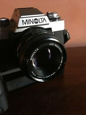MINOLTA XGM WITH WINDER AND LENS