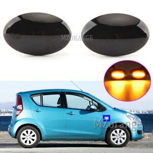 2 LED Black Side Marker Light Lamp For Suzuki Swift SX4 S-Cross Splash Fiat Opel