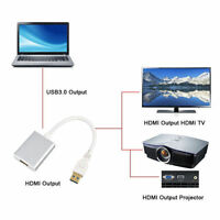 CC  USB 3.0 & 2.0 to HDMI HDTV Adapter Cable External Card for Windows PC Laptop