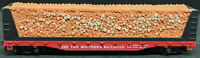 TYCO THE SOUTHERN RAILROAD 4365. HO Scale RED FLAT PULPWOOD LOG Car. VINTAGE